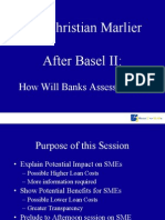 BasleMr. Christian Marlier, How Will Banks Assess SMEs