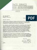 Letero de Alexander Gode al Floyd Hardin