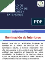 Calculo de iluminación de interiores y exteriores