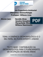 Slide Do Trab. de Geomorfologia