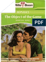 The Object of the Game - Vanessa James