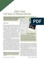 Physical Review Citation Statistics