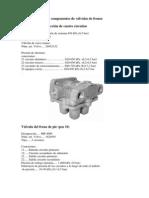 Valvulas de Frenos, Especificaciones