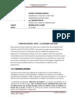 Informe de Campo de Construccion ( en Proceso)