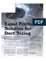 Ashrae Journal 0905 Equal Friction Solution for Duct Sizing