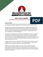 Robotech tactical briefing