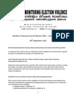 Northern Provincial Council Election 2013 Communiquc3a9 No 7