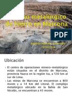 Proceso metalúrgico de hierro en Marcona