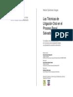 Litigacion Oral en El Derecho Procesal Penal de Honduras.