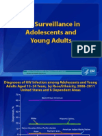 US Center For Disease Control (CDC)  Statistics on HIV Surveillance in Young Adults (2013)