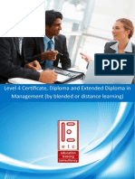 ATHE Level 4 Certificate Diploma Extended Diploma in Management (by blended learning, distance learning)
