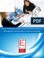 ATHE Level 5 Certificate Diploma Extended Diploma in Management (by blended learning and distance learning)