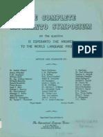 titolpagho por The complete Esperanto Symposium 1964