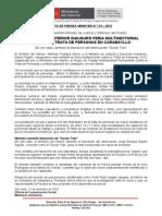 MINISTRO DEL INTERIOR INAUGURÓ FERIA MULTISECTORIAL CONTRA LA TRATA DE PERSONAS EN CARABAYLLO
