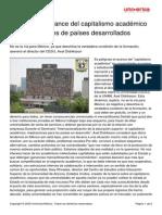 Didriksson Axel - Peligroso el avance del capitalismo académico en universidades de países desarrollados