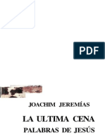 Joachim Jeremias - La Ultima Cena