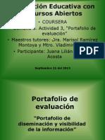 Portafolio de evaluación 3 visibilidad y diseminación de REA