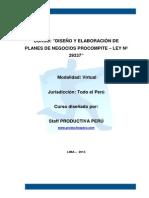 Silabus Curso Virtual Planes de Negocio Procompite