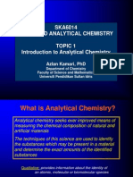 Topic 1 Introduction to Analytical Chemistry