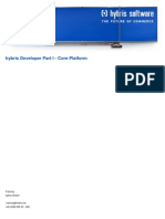 Hybris Developer Training Part I - Core Platform - Agenda