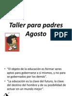 Taller Para Padres Agosto