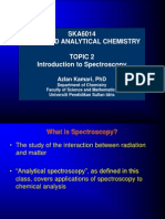 Topic 2 Introduction to Spectroscopy