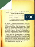 karl R. Popper. El desarrollo del conocimiento científico