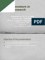 Basic Procedure in Research Process