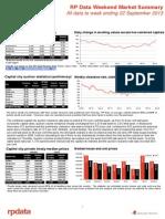 Weekend Market Summary Week Ending 2013 September 22 (1)