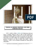 Papa Francisco en Santa Martha. 21-09-2013. Sábado XXIV Semana T.O.