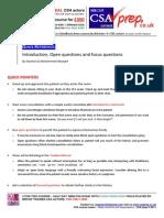 MRCGP CSA Course/exam Quick Reference guide  Introduction communication skills (CSAprep)