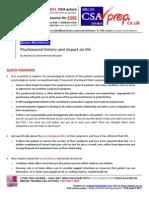 MRCGP CSA exam Quick Reference guide  Psychosocial history and impact on life communication skills (CSAprep - CSA course)