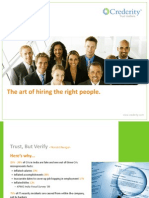 Crederity Brochure - The art of hiring the right people
