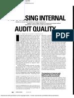 Assessing Internal Audit Quality