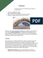 Diabetes Glaucoma Cataracts