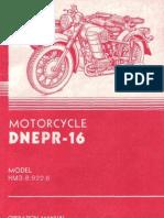 Dnepr MT16 Operations Manual