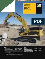 Catalogo Excavadora Hidraulica 365cl Caterpillar