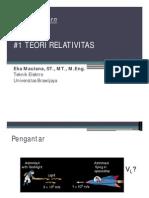 01 Fisika Modern Postulat Relativitas