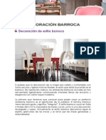 DECORACIÓN BARROCA