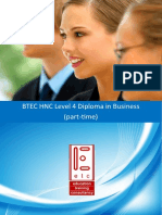 BTEC HNC in Business Part Time