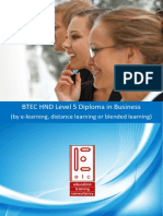 BTEC HND in Business by e Learning Distance Learning or Blended Learning