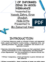 Role of Informed Citizens in Good Governance