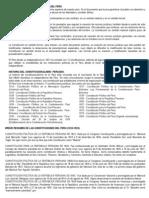 BREVE RESEÑA HISTORICA DE LAS CONSTITUCIONES POLITICAS DEL PERU