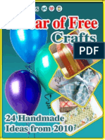 24 Handmade Craft Ideas From 2010 a Year of Free Crafts