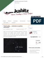 Você sabe orientar-se pelas estrelas_ _ Zunkabitz