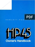 HP-45 Owner's Handbook 1973 Color