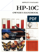 HP-10C Owner's Handbook 1982 Color