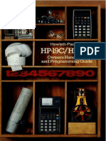 HP-19C & 29C Owners Handbook and Programming Guide 1977 Color
