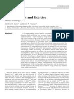 Plasma Leptin and Exercise