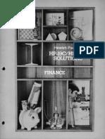 HP-19C & 29C Solutions Finance 1977 B&W